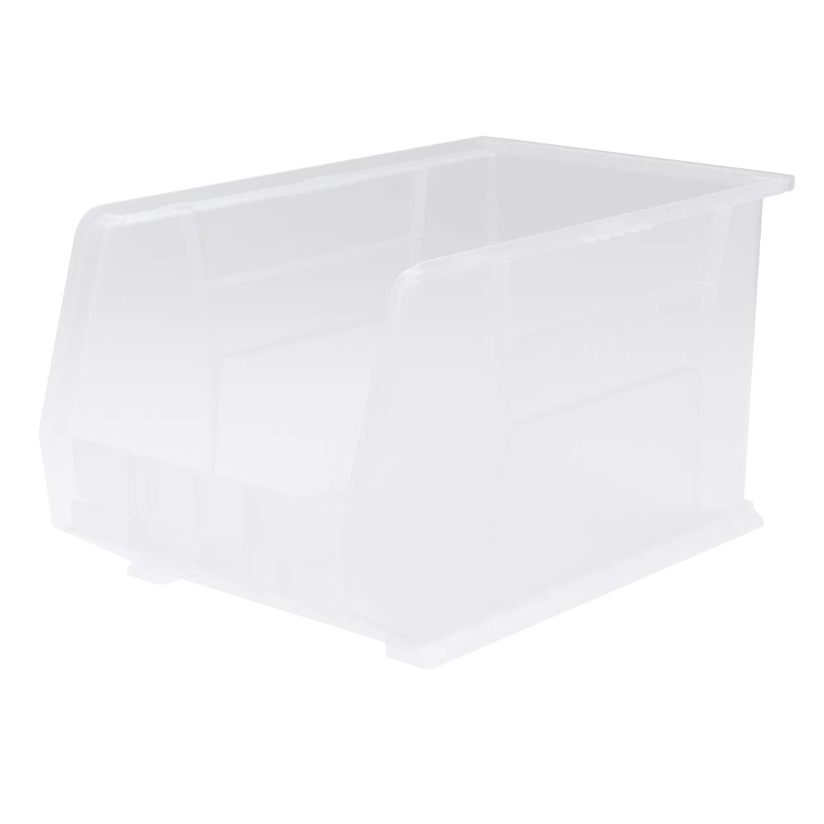 Akro-Mils 30260 AkroBins Plastic Storage Bin Hanging Stacking Containers, (18-Inch x 11-Inch x 10-Inch), Clear, (6-Pack)