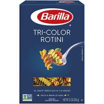 Barilla Tri-Color Pasta, Rotini, 12 Ounce (Pack of 16)