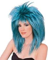 Rubie's Costume Blue Glitter Diva Wig with Tinsel