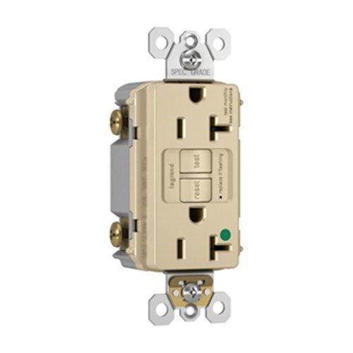 Legrand - Pass & Seymour radiant 2097HGI 20 Amp Hospital-Grade Self-Test GFCI Safety Receptacle, Ivory