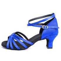DoGeek Latin Shoes Girls&Women's Ballroom Dance Shoes Women Latin Dress Shoes Salsa Performance Dance Shoes