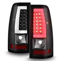 Black For 2003-2006 Silerado 1500/2500 HD 04-06 3500 Pickup LED [Tube Bar] Tail Lights Brake Lamp Driver+Passenger Side