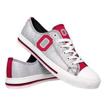FOCO NCAA Ohio State Buckeyes Womens Glitter Low Top Canvas ShoesGlitter Low Top Canvas Shoes, Team Color