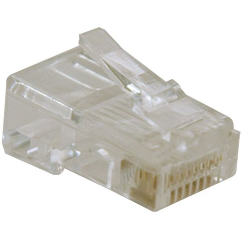 Tripp Lite 10-Pack of RJ45 Plugs for Solid Stranded Conductor 4-pair Cat5e Cable(N030-010)