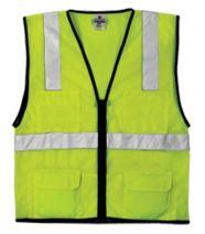 ML Kishigo 1191 Economy Series Ultra Cool Mesh 6 Pocket Vest, Fits 2X-Large and 3X-Large, Lime