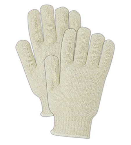 Magid Glove & Safety T153C Magid Knit Master T153 Heavyweight 7-Gauge Knit Gloves, Ladies (Fits Medium), Natural, Ladies (Fits Medium) (Pack of 12)