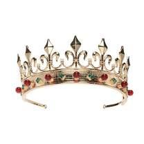 S SNUOY King Crown for Men Fleur De Lis King Crown Queen Crown Royal Crown Costume Accessory Party Hats