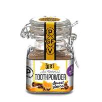 The Dirt All Natural Tooth Powder - Gluten & Fluoride Free Organic Teeth Whitening Powder with Essential Oils   No Added Sweeteners, Artificial Flavors or Colors - Sweet Spice, 6 Month Supply
