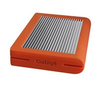 CalDigit Tuff USB-C 2TB HDD Portable Rugged Tough USB 3.1 Type-C, MacBook, 2016 MacBook Pro, Thunderbolt 3 Compatible (Orange)