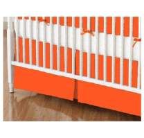 SheetWorld - Crib Skirt (28 x 52) - Burnt Orange Jersey Knit - Made In USA