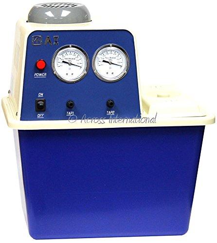 "Across International WV07.110 Ai Watervac 0.7 CFM 2-Head Recirculating Water Vacuum Pump - 110V, 12"" Height, 17"" Wide, 15"" Length"