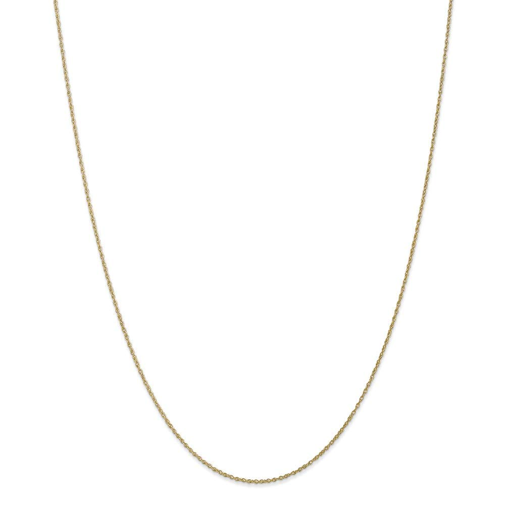 10k Yellow Gold .8mm Lite Baby Link Rope Chain Necklace 14 Inch Pendant Charm Fine Mothers Day Jewelry For Women Gifts For Her