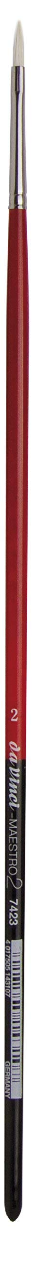 da Vinci Hog Bristle Series 7423 Maestro 2 Artist Paint Brush, Filbert with European Sizing, Size 2
