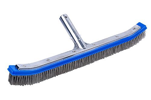 """Milliard Pool Brush, 17"""" Extra-Wide, Heavy Duty Wire, Algae Cleaner Brush Designed for Concrete and Gunite Pools for Extremely Tough Stain Removal"""
