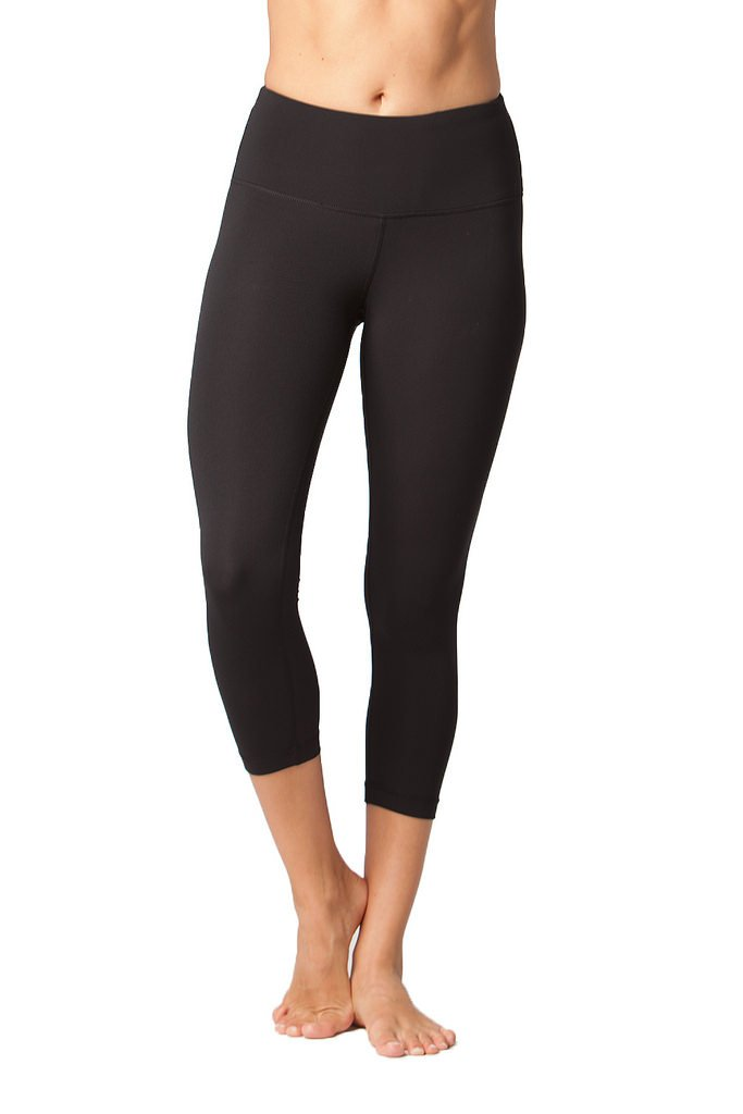 Yogalicious High Waist Ultra Soft Lightweight Capris - High Rise Yoga Pants