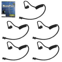 MaximalPower Twist On Replacement Black Coiled Acoustic Tube for Two-Way Radio Surveillance and Listen Only Earpiece (5 Pack)