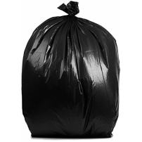 PlasticMill 55 Gallon Garbage Bags, Rubbermade Compatible: Black, 1.5 Mil, 40x50, 100 Bags.