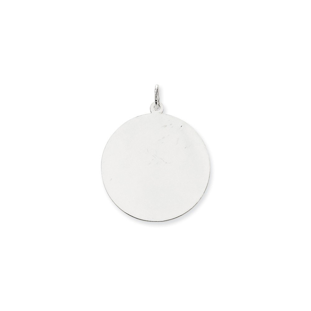 14k White Gold .013 Gauge Round Engravable Disc Pendant Charm Necklace Plain Fine Jewelry For Women Gifts For Her