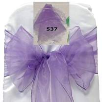 mds Pack of 100 Organza Chair Sashes Bow Sash for Wedding and Events Supplies Party Decoration Chair Cover sash -Lavander