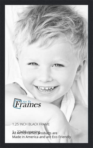 ArtToFrames 22x36 inch Black Picture Frame, 2WOMFRBW72079-22x36