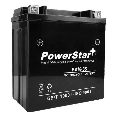 PowerStar YTX16-BS ATV Battery MTX16-BS, UTX16-BS, M32X6, GT16-BS, PTX16-BS