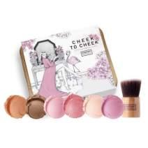 Everyday Minerals | Cheek to Cheek Kit | Limited Edition | 7 Piece Mineral Makeup Blush Powder Set | Bamboo Brush | Vegan | Cruelty Free | Organic | Natural Mineral Makeup