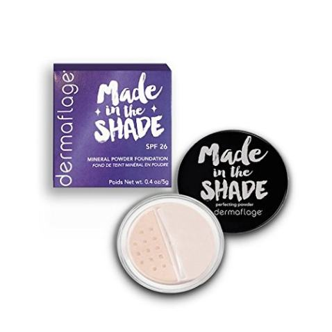 Mineral Powder Foundation for Sensitive Skin, Powder Sunscreen with SPF 26, All Natural Ingredients, Anti-oxidant protection, Made in the Shade by Dermaflage, 0.4 oz