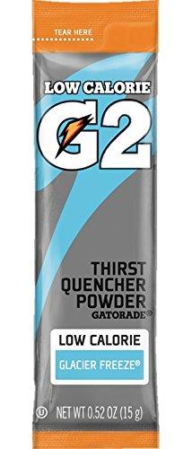 Gatorade G2, Lower Sugar, Single Serve Powder Packs, Glacier Freeze, Makes 20 ounces, Pack of 64