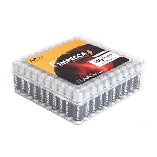 IMPECCA AA Batteries 16 Pack Alkaline High Performance and Leak Resistant AA Battery Long Lasting LR6 Platinum Series