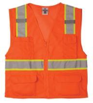 ML Kishigo 1196 Ultra-Cool Polyester Mesh Multi-Pocket Vest, 5X-Large, Orange
