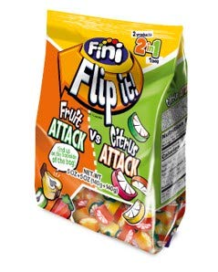 Fini Flip-It, Fruit Attack & Citrus Attack, 10 oz, 0g Fat, Includes 2 Different Flavors in 1 Package, A unique and innovating packing that satisfies both sweet and sour candy craving