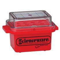 Bel-Art F18846-0000 Cryo-Safe Mini Cooler; 0ºC, 0.5 or 1.5ml Tubes, 12 Places, Plastic, 5¾ x 4 x 3¾ in.