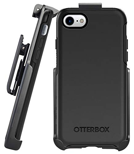 Belt Clip Holster Compatible with OtterBox Symmetry Series - iPhone 7/8, iPhone SE 2020 (case not included) - Features: Secure Fit, Quick Release Latch, Durable Rotating Belt Clip & Built-in Kickstand