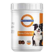 Stratford Pharmaceuticals  Omega 3 Fatty Acid Soft Chew Max Strength - Dog Omega 3 Supplement - Soft Chew Treats with Fish Oil for Dogs - Large and Giant Dogs - 150 Soft Chews