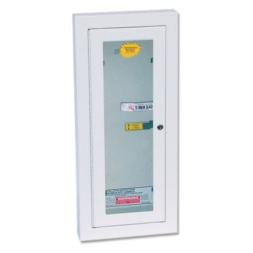 Kidde Semi-Recessed 10-Pound Fire Extinguisher Cabinet with Lock   Model 468047