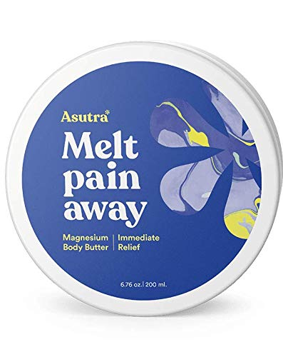ASUTRA Magnesium Body Butter Lotion, 6.76 oz | Relieve Muscle Cramps | Fight Joint Pain | Stress & Anxiety Relief | Eczema Soothing Cream | Promote Healthy Sleep w/Calming Lemongrass