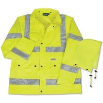 ERB 61480 S371 Class 3 Raincoat, Lime, Medium