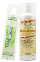 VITA-MYR Value Package 6 – 1 Tube 5.4 Oz Zinc+ Xtra w/Xylitol & Coq 10 Natural Toothpaste & 1-16 Oz Natural Mouthwash. Gluten Free. Vegan. No SLS, No Sugar, Fluoride, Alcohol or Saccharin