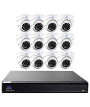 Montavue 16 Channel 4K DIY Home Security System w/ 12 4MP IP Dome Cameras, 3TB HDD & 130ft Color Night Optics and IR Night Vision – MTIP816312E