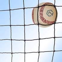 Baseball and Softball Backstop Barrier Nylon Netting #18 Net. Panels are All 12' High with 25 Length Options