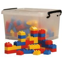 Constructive Playthings ATC-05 Preschool Building Bricks with Storage Tub, Grade: Kindergarten to 3, 150 Pieces