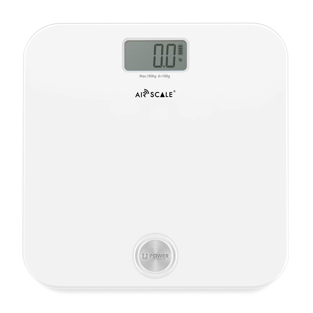 AIR SCALE Digital Weight Scale for People Health 400 Pounds Body Scale with LCD Screen Battery-Free Bathroom Scale