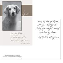 At One Glance I Loved You With A Thousand Hearts - Thinking of You - Death Loss of Pet Sympathy Card