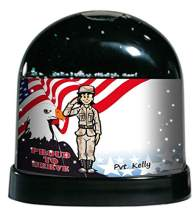 PrintedPerfection.com Personalized NTT Cartoon Caricature Snow Globe Gift: Army, US Army Soldier
