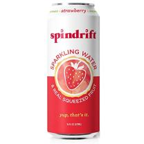 Spindrift Sparkling Water, Strawberry Flavored, Made with Real Squeezed Fruit, 16 Fl Oz (Pack of 12) (Only 12 Calories per Seltzer Water Can)