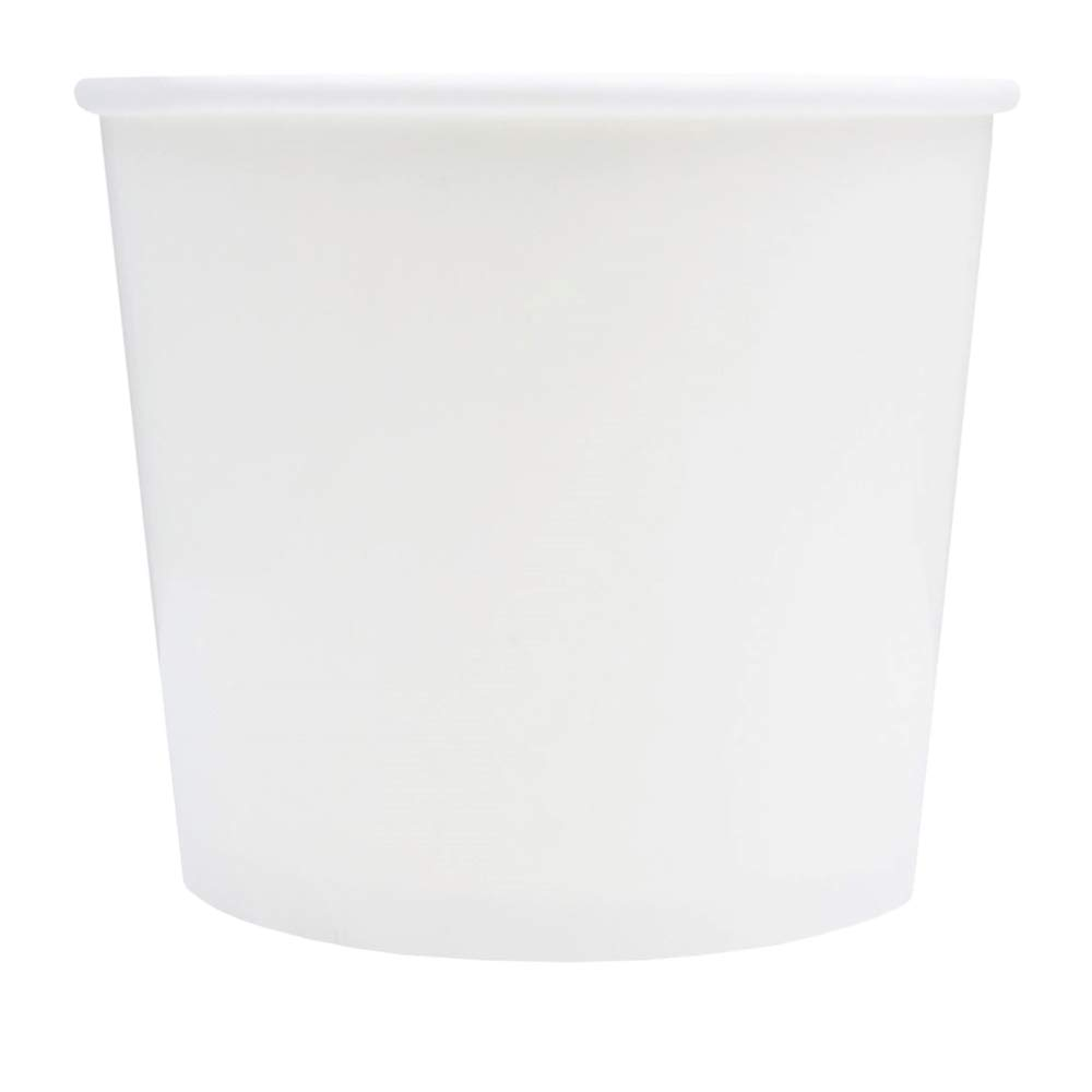 White Paper Ice Cream Cups - 12 oz Disposable Dessert Bowls - Perfect For Your Yummy Foods! Many Colors & Sizes - Frozen Dessert Supplies - 1,000 Count