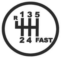 hBARSCI 6 Speed Manual Fast Shifter Vinyl Decal - 5 Inches - for Cars, Trucks, Windows, Laptops, Tablets, Outdoor-Grade 2.5mil Thick Vinyl - Matte Black