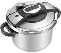 KRAMPAN One-Touch Pressure Cooker, Stainless Steel Pressure Cooker, 6 Quart Pressure Canner Cookware Dishwasher Safe, Fast Cooker for Kitchen.