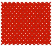 SheetWorld Primary Pindots Red Woven Fabric - By The Yard