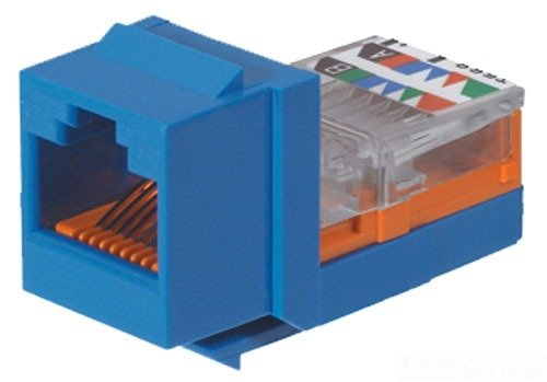 Panduit NK5E88MBUY Category-5E 8-Wire Lead-Frame Style Jack Module, Blue, 4-Pair
